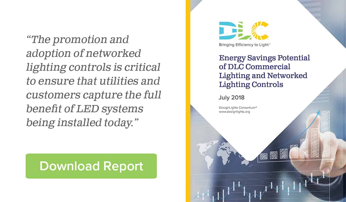 Download Report: Energy Savings Potential of DLC Commercial Lighting and Networked Lighting Controls