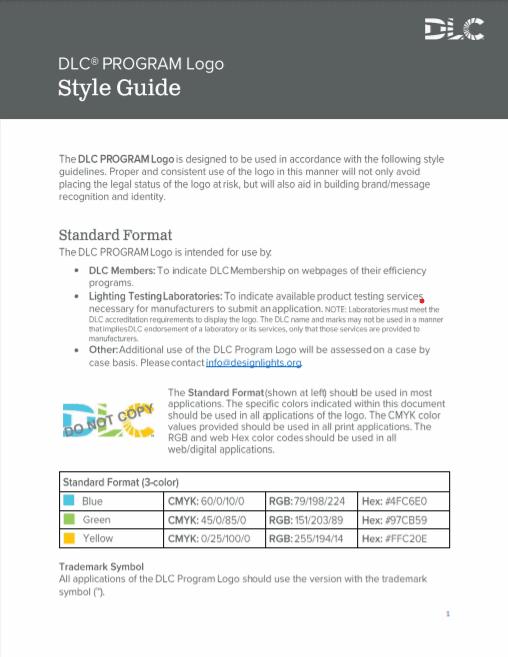 DLC Program Logo Style Guide